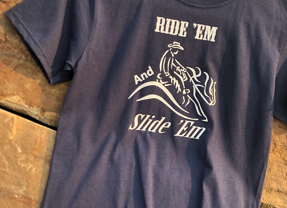 YOUTH LARGE RIDE EM AND SLIDE EM YOUTH TEE