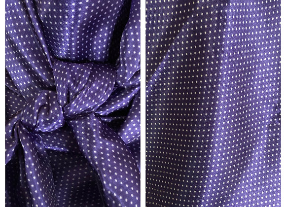 PURPLE WITH SMALL WHITE POLKA DOTS