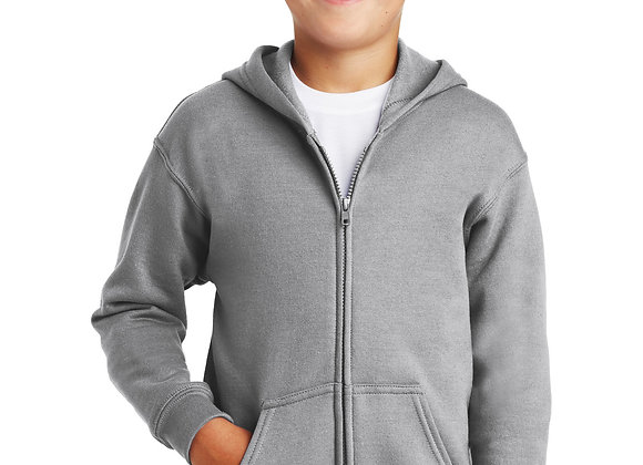 YOUTH ZIP-UP HOODED SWEATSHIRT