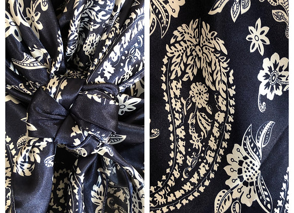 NAVY WITH WHITE PAISLEY