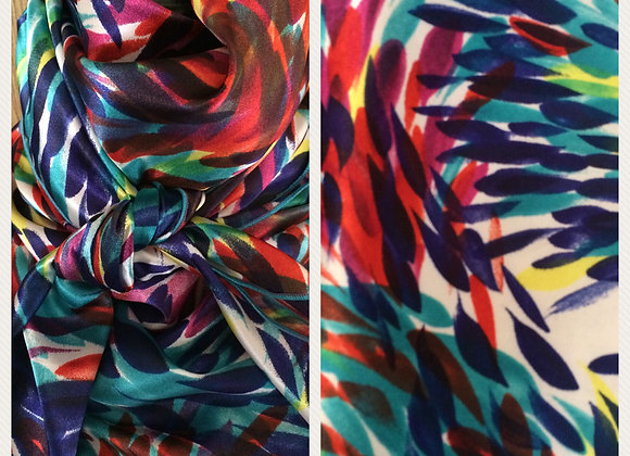MULTICOLOR ABSTRACT BRUSHSTROKES