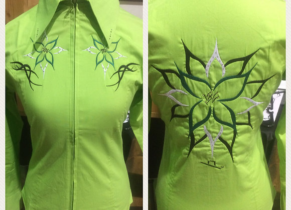 ADD BIG FLOWER DESIGN TO SHIRT WITH BLING