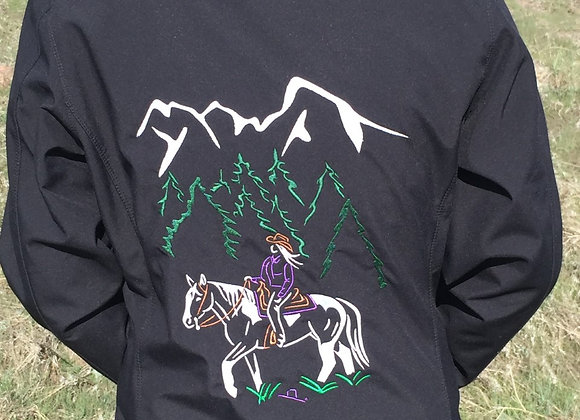 TRAIL RIDER LADY SOFTSHELL WITH PAINT HORSE OR REGULAR HORSE