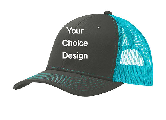 BASIC TRUCKER CAP WITH YOUR CHOICE DESIGN