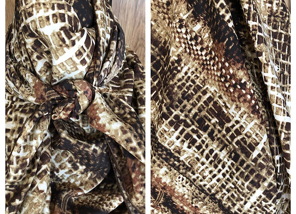 BROWN AND TAN SNAKE SKIN PRINT