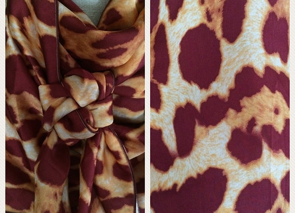 MAROON AND GOLD BIG ANIMAL PRINT