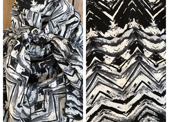 BLACK WHITE AND GREY ABSTRACT PRINT