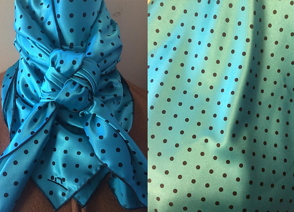 TURQUOISE AND BLUE POLKA DOT PRINT