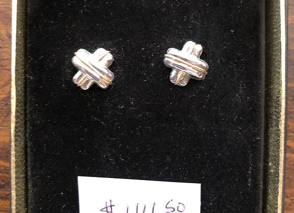 Sterling silver X earrings