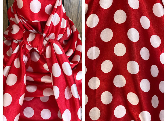RED WITH WHITE MEDIUM SIZE POLKA DOTS