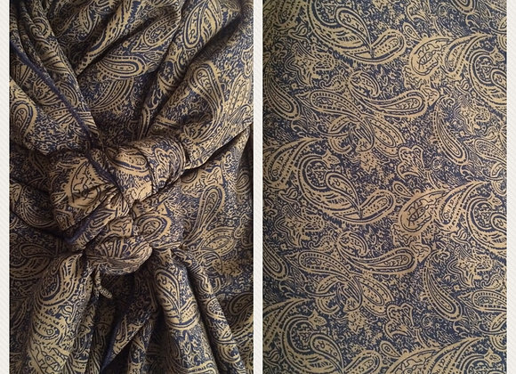 GOLD AND BLACK PAISLEY