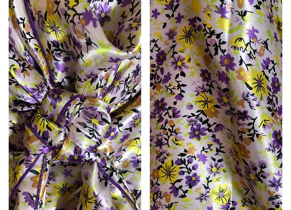 SOFT PINK WITH PURPLE AND YELLOW TINY FLOWERS PRINT