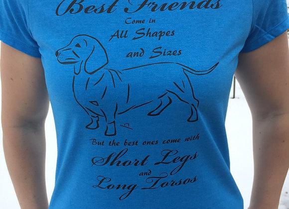 DACHSHUND BEST FRIENDS LADIES TEE