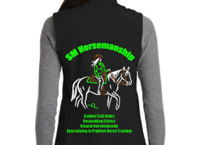 SM HORSEMANSHIP MENS OR WOMENS SOFTSHELL VEST