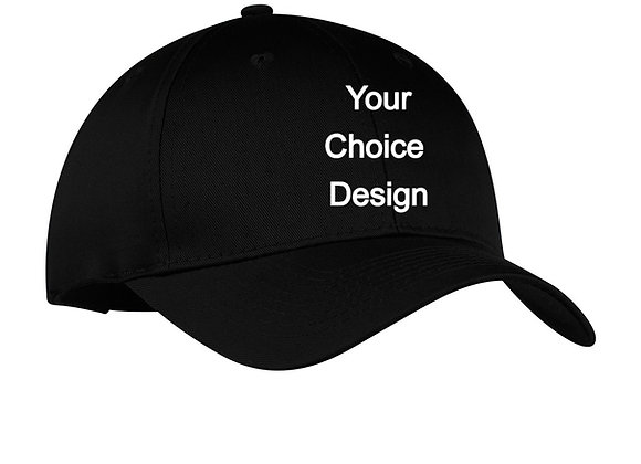 BASIC TWILL CAP WITH YOUR CHOICE DESIGN