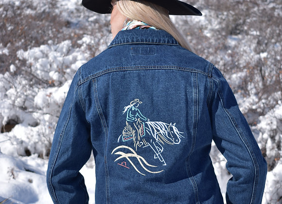 LADIES LARGE REINER LADY WITH BLING DENIM JACKET (CLEARANCE SIZES)