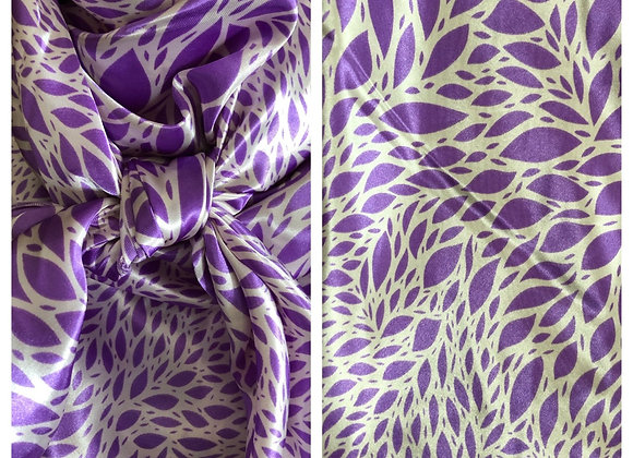 LAVENDER WITH CREAM PETALS ABSTRACT PRINT