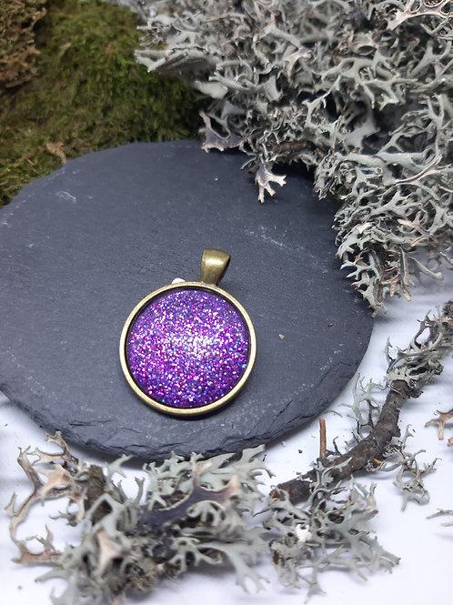 """Anhänger """"ViolettGlitterFlitter"""" Bronzefarben"""