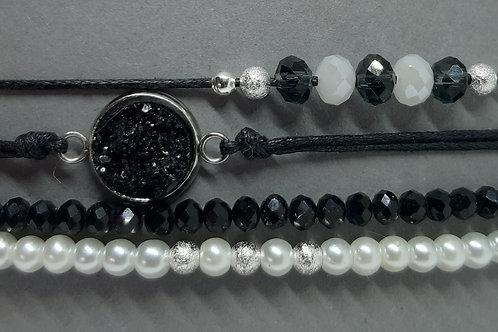 Armbänder Black&White (4er - Set)