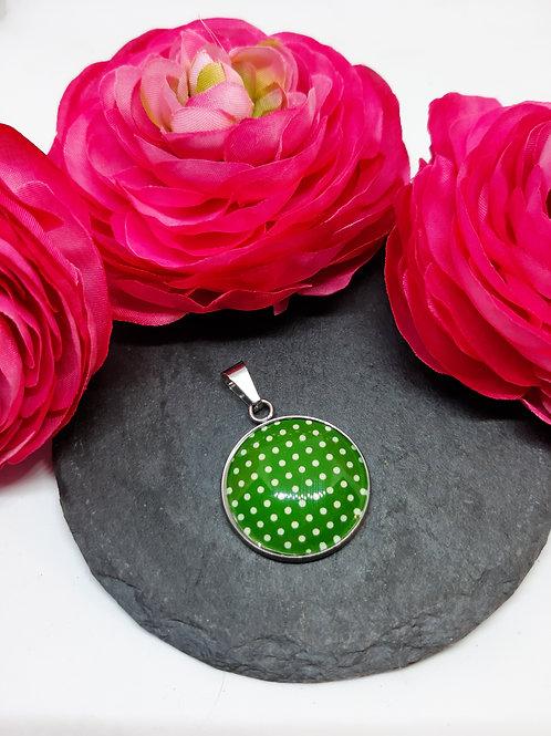 """Anhänger """"Dots in Green"""" (Edelstahl)"""