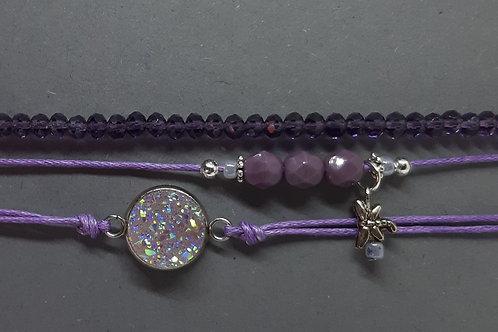 Armbänder Violett (3er - Set)