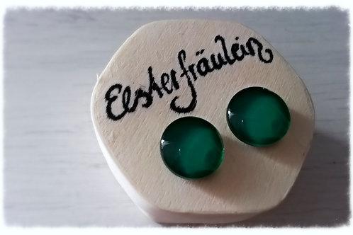 "Ohrstecker ""Farbenreich"" - Smaragdgrün"