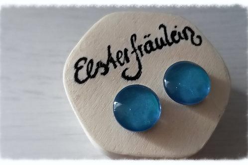 """Ohrstecker """"Farbenreich"""" - Blau mit Glanz"""