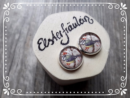 """Ohrstecker """"Blaumeise"""" - Edelstahl"""