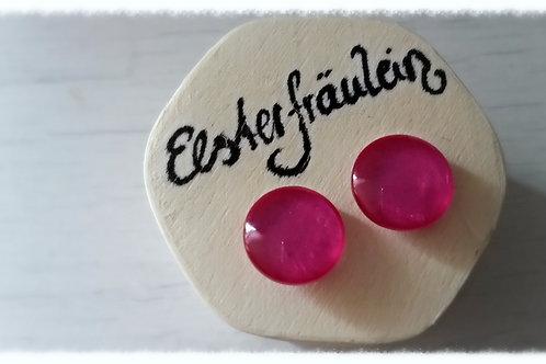 """Ohrstecker """"Farbenreich"""" - Pink"""