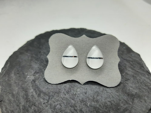 "Ohrstecker ""Drops"" Edelstahl 12x10 mm"