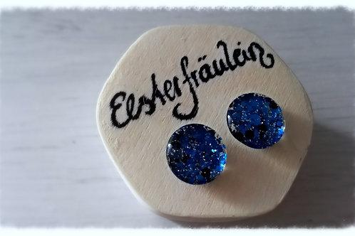 """Ohrstecker """"Farbenreich"""" - Blau mit"""