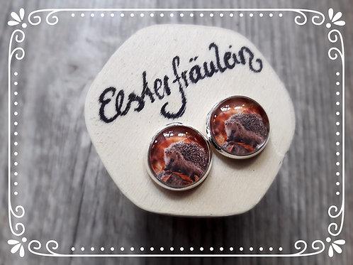 """Ohrstecker """"Igel"""" - Edelstahl"""