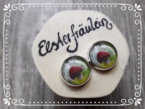"""Ohrstecker """"Fliegenpilz"""" - Edelstahl"""