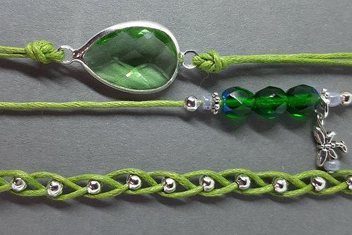 Armbänder Grashüpfergrün (3er - Set)