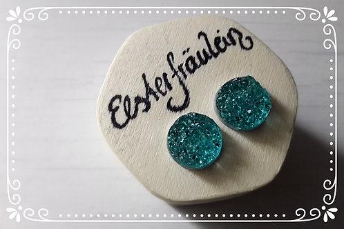 "Ohrstecker Eiskristall ""Gletschersee"" Edelstahl"