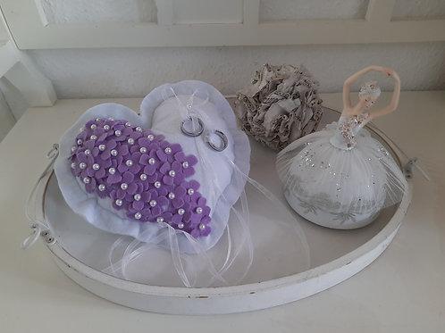 """Ringkissen """"Flowerlove"""" Lavendel"""