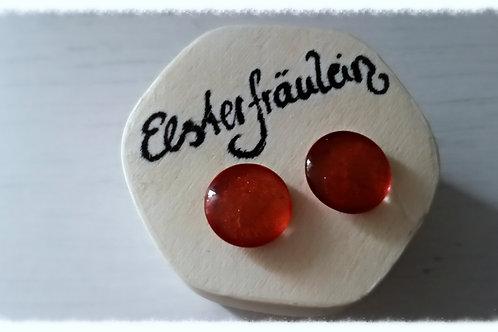 """Ohrstecker """"Farbenreich"""" - Rostrot"""