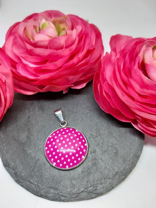 """Anhänger """"Dots in Pink"""" (Edelstahl)"""