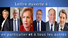 Lettre ouverte à Valérie Pécresse, Virginie Calmels, Gérard Larcher, Hervé Morin, Xavier Bertrand, F