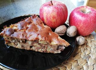 Gâteau aux pommes et aux noix à IG bas
