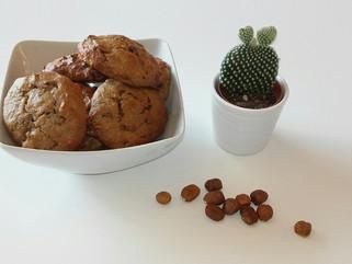 Cookies healthy à la purée de cajou, au chocolat et aux noisettes