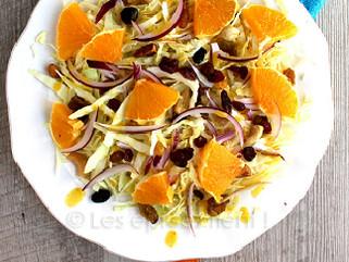 Salade de céleri, carotte et chou à l'orange