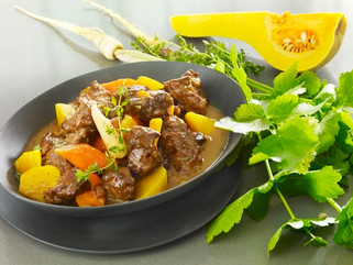 Navarin d'agneau aux légumes oubliés dorés au thym