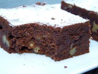 Moelleux chocolat noix sans matières grasses ajoutées et à IG bas
