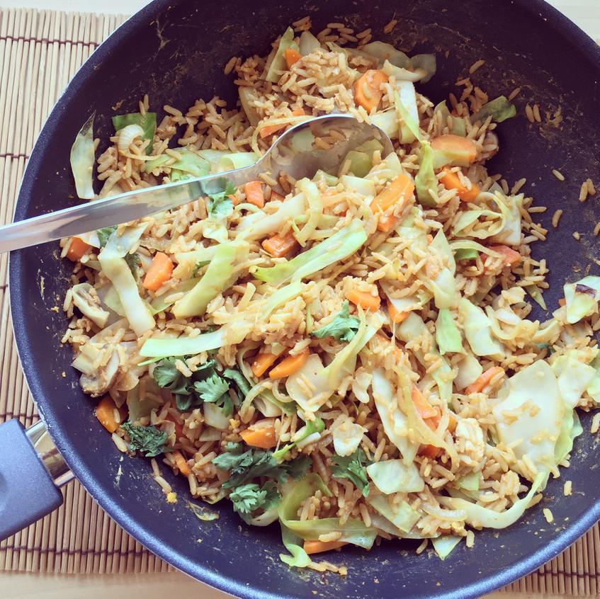 riz sauté légumes