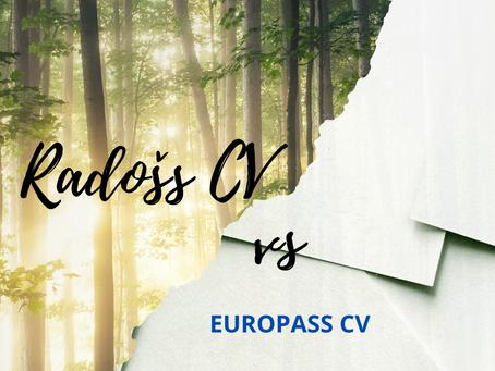 Kāda formāta CV labāk patīk daba devējiem – Europass vai brīva formāta