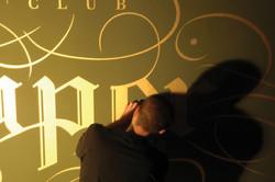Vinyl wall logo