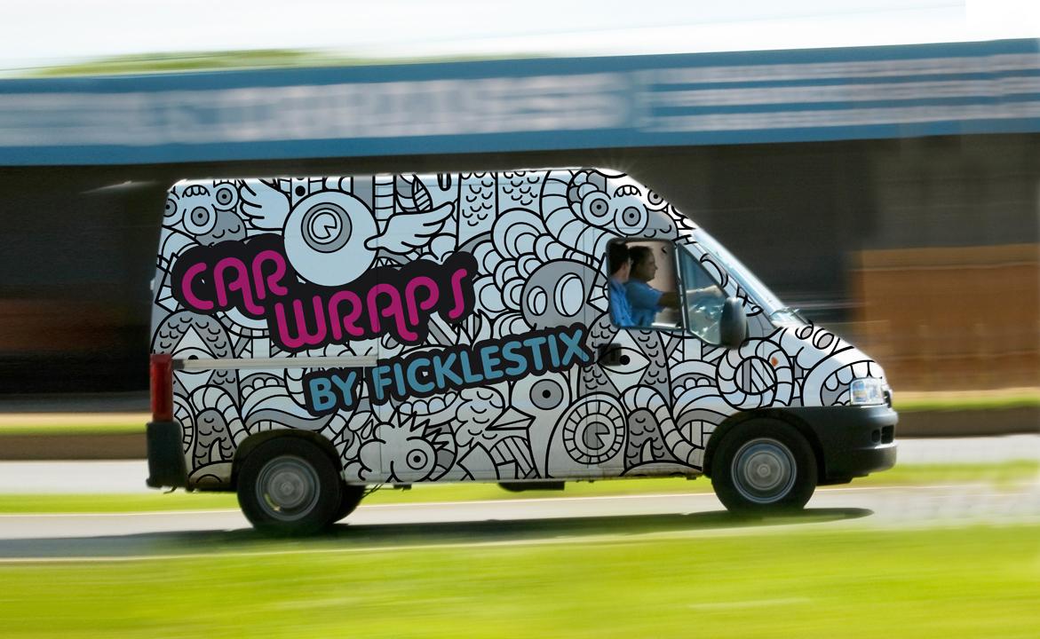 Full colour vehicle wraps