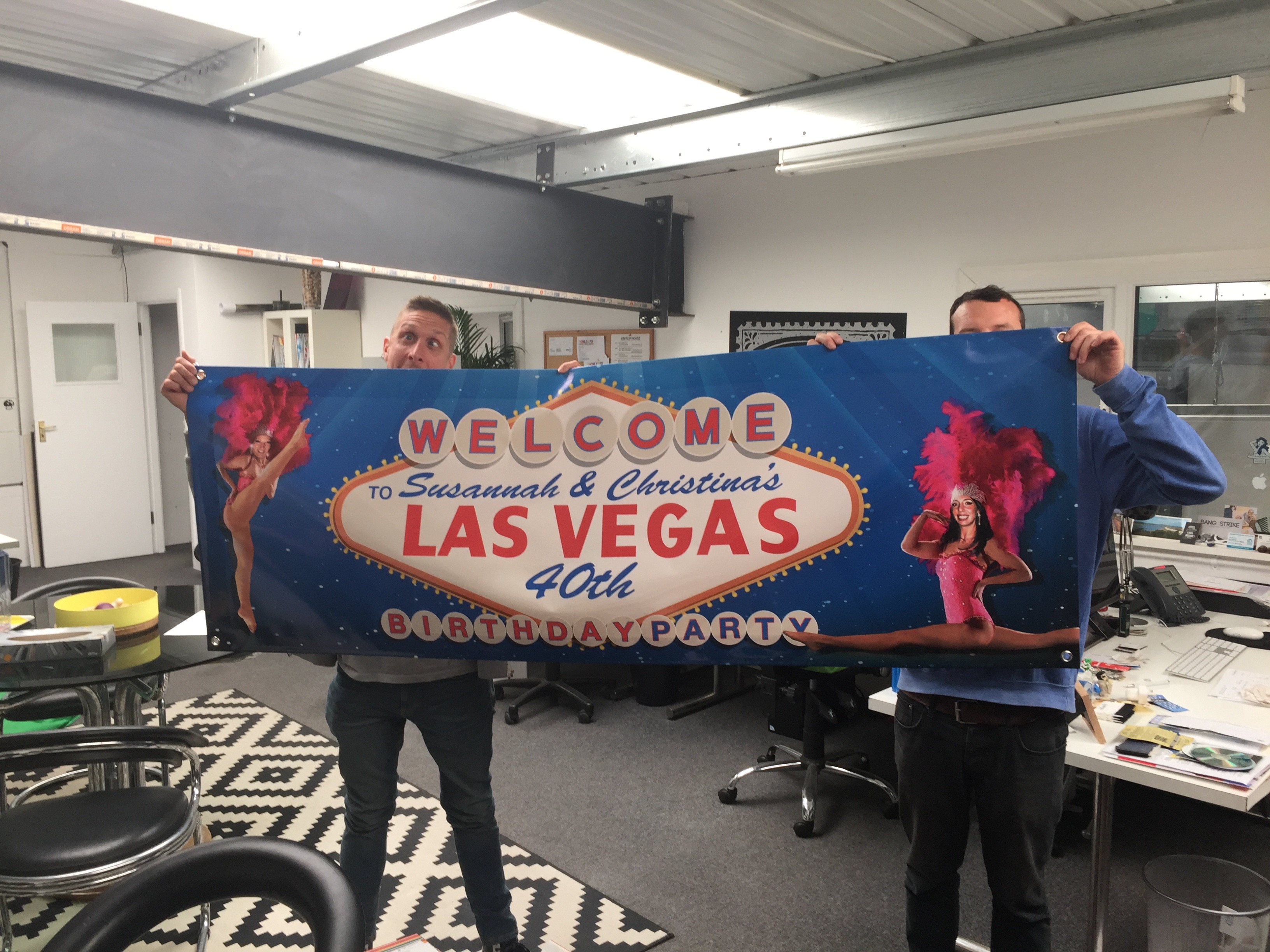 Wide format print colour banners