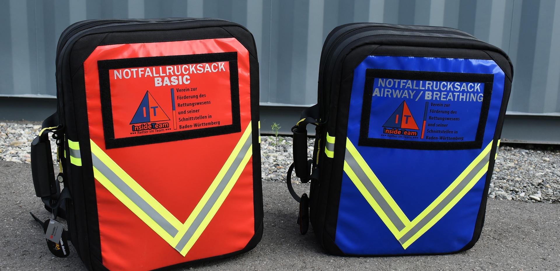 Notfallrucksäcke Basic und AB